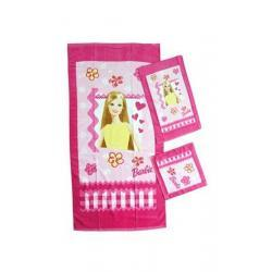 BARBIE - 3 ręczniki zestaw