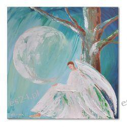 Anioł księżycowy, obraz ręcznie malowany