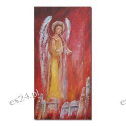 Anioł i kołysanka, obraz ręcznie malowany
