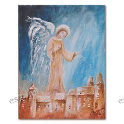 Anioł nocnego nieba, obraz ręcznie malowany