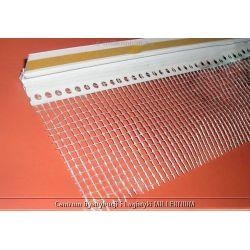 Listwa dylatacyjna PCV do ościeżnic okiennych z siatką 9mm / 7mm L=2,5m kolor: biały...