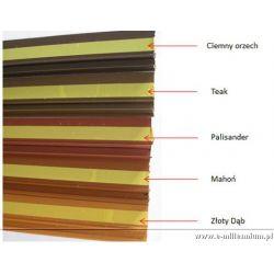 Listwa dylatacyjna PCV do ościeżnic okiennych z siatką 9mm / 7mm L=2,5m kolor: mahoń RAL8002...