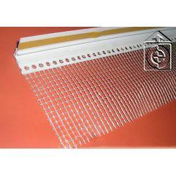 Listwa dylatacyjna PCV do ościeżnic okiennych z siatką 9mm / 7mm L=3,0m kolor: biały...