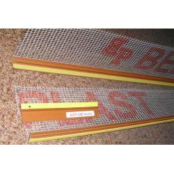 Listwa dylatacyjna PCV do ościeżnic okiennych z siatką 9mm / 7mm L=3,0m kolor: złoty dąb RAL8001...