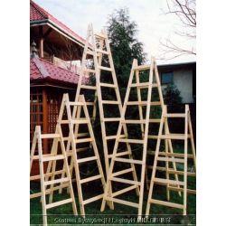 Drabina drewniana rozstawna 8-szczeblowa...