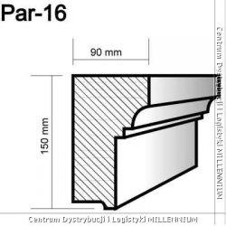 Profil pod parapety Par-16 15x9cm element powlekany...
