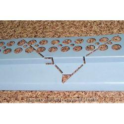 Profil aluminiowy balkonowy narożny 2.0m szary RAL 7001 - listwa balkonowa narożna szara...