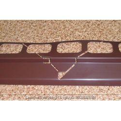 Profil aluminiowy balkonowy narożny 2.0m brązowy - listwa balkonowa narożna brązowa...