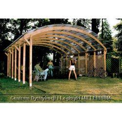 Garaż ogrodowy drewniany na 2 auta - wiata ogrodowa 6 x 5.2 m...