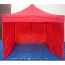 Namiot handlowy ekspresowo rozkładny 3x3m czerwony...