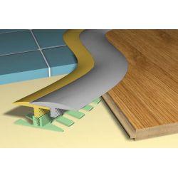 Profil podłogowy do łuków STEPFLEX C 15-18mm - równy poziom - listwa podłogowa 6m kolory: złoty, srebrny...