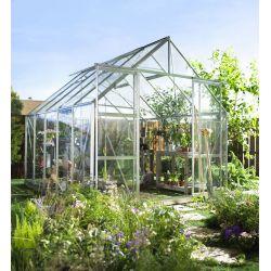 Szklarnia Halls Magnum 108 srebrne aluminium szkło ogrodnicze...