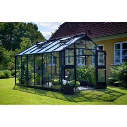 Szklarnia ogrodowa Juliana Premium 880 wymiar: 296 x 296 rama antracyt szkło ogrodnicze...