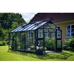 Szklarnia ogrodowa Juliana Premium 880 wymiar: 296 x 296 rama antracyt szkło hartowane...