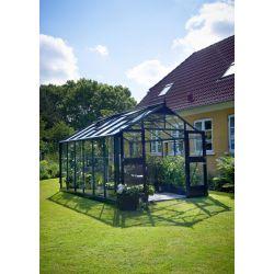 Szklarnia ogrodowa Juliana Premium 1090 wymiar: 368 x 296 rama antracyt szkło ogrodnicze...