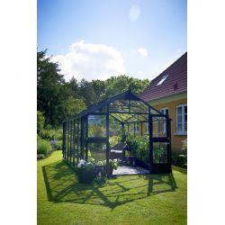 Szklarnia ogrodowa Juliana Premium 1090 wymiar: 368 x 296 rama antracyt szkło hartowane...