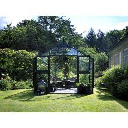 Szklarnia ogrodowa Juliana Premium 1300 wymiar: 439 x 296 rama antracyt szkło hartowane...