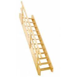 Schody młynarskie drewniane sosnowe 90x330 ...