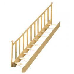 Schody młynarskie drewniane sosnowe 90x330 proste tralki ...