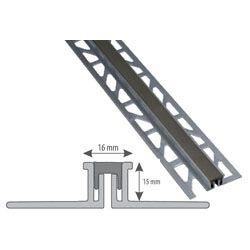 Listwa aluminiowa dylatacyjna do gresu 2,5m H=15mm szara...