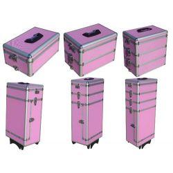 Kufry na kosmetyki różowe 6szt....