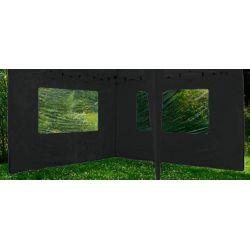 Ścianka do pawilonu ogrodowego 2 szt. 3x3m - czarny...