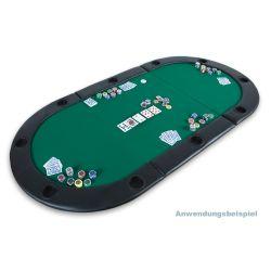 Mata do pokera dwustronna - zielona...