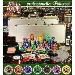 Profesjonalny zestaw gry w pokera + 2 walizki po 500 szt....