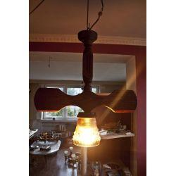 Lampa żyrandol drewniany-Tanio!