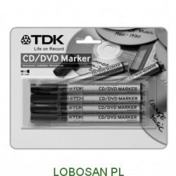 PISAKI DO PISANIA NA CD/DVD 4szt (różne kolory) TDK cena promo...