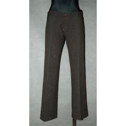 spodnie z błyszczącą nitka 3/4 (pas 78 cm)