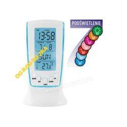Stacja Multikolor termometr zegar budzik 200102