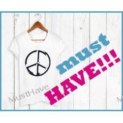 Koszulka PEACE LOVE PACYFA blogerska bluzka MUST HAVE - glam