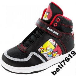 SALE 10UK wysokie TRAMPKI r 28 wk 18cm ANGRY BIRDS