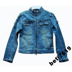 UK kurtka jeansowa motor 152 158 jak zara MODNA