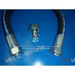Wąż Hydrauliczny / Długość 1,5 mb / DN25 4SP 320 bar / prosta - M42x2 - prosta M42x2 / klucz 50