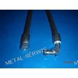 Wąż Hydrauliczny / Długość 0,8 mb / DN12 2SN 275 bar / końcówka 90'  M22x1,5 - prosta M22x1,5 / klucz 27