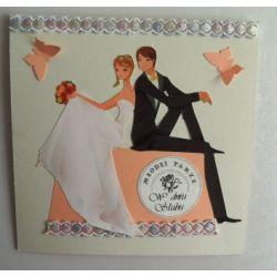 Oryginalna kartka na ślub, ślubna ręcznie robiona