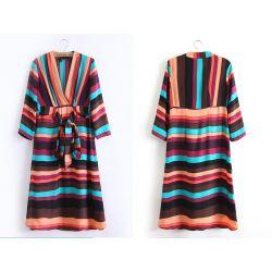 603-XS Sukienka KOPERTOWA Sukienki Paski XS 34