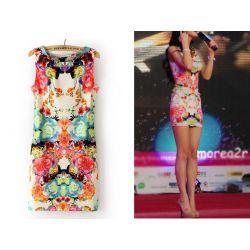 573-L Śliczna Sukienka KWIATOWA Sukienki 40 L