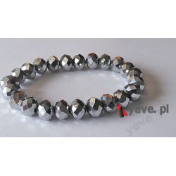 Yeve_pl Bransoletka Kryształek Srebrny faset 10 mm