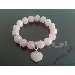 Yeve_pl Bransoletka Kwarc Różowy Kamień 12 mm