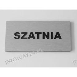 Tabliczki informacyjne na drzwi - Srebro Drapane - Dibond - 14x7cm - SZATNIA