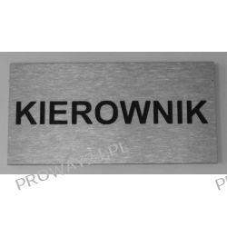 Tabliczki informacyjne na drzwi - Oznaczenie - KIEROWNIK - Dibond - 16x8cm