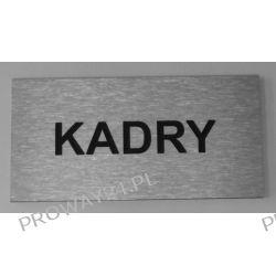 Tabliczki informacyjne na drzwi - Oznaczenie - KADRY - Dibond - 16x8cm
