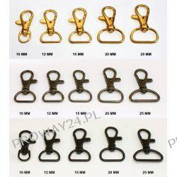 """Karabińczyk metalowy """"RYBKA"""" - 10mm, 12mm, 15mm, 20mm, 25mm - KOLOROWY"""