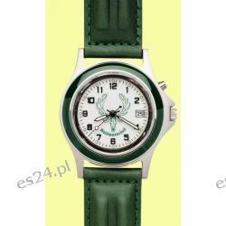 Zegarek z motywem Hubertus, pasek skórzany