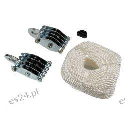 Uniwersalny system bloczkowy z liną do 300 kg Zegary