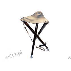 Krzesełko składane drewniane na trzech nogach Nieskategoryzowane