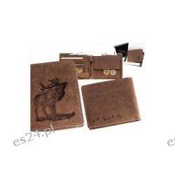 Skórzany portfel jeleń podczas rui